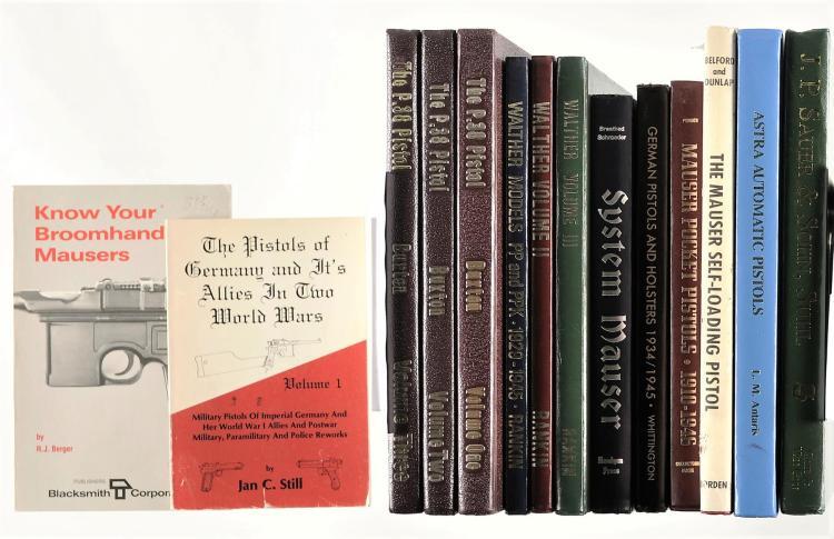 Fourteen Assorted Handgun Books