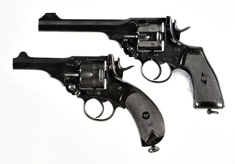 Two Webley Double Action Revolvers -A) Webley & Scott Mark VI Revolver