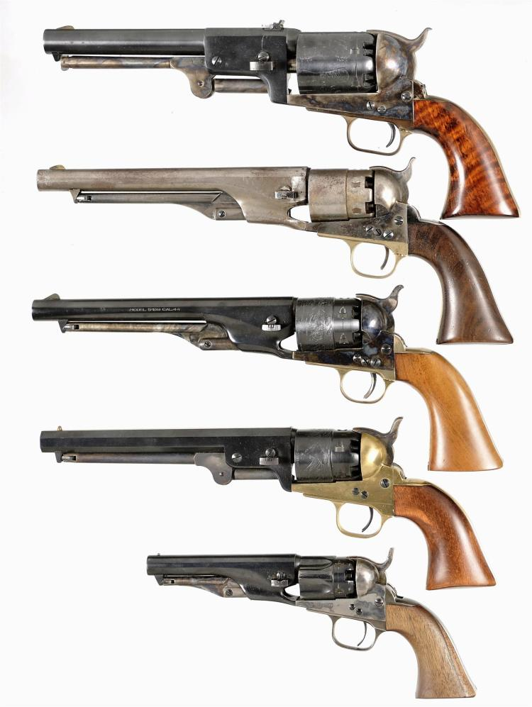 Five Italian Reproduction Percussion Revolvers -A) Armi San Marco 3rd Model Dragoon