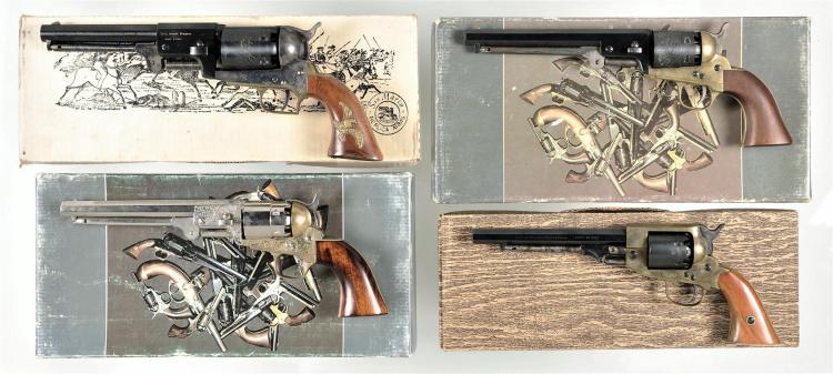 Four Boxed Italian Reproduction Percussion Revolvers -A) Armi San Marco Second Hartford Dragoon Revolver