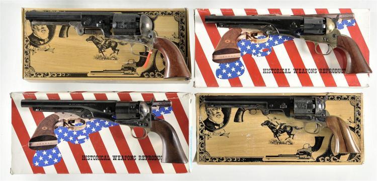 Four Boxed Italian Reproduction Percussion Revolvers -A) Cimarron First Model Dragoon Revolver