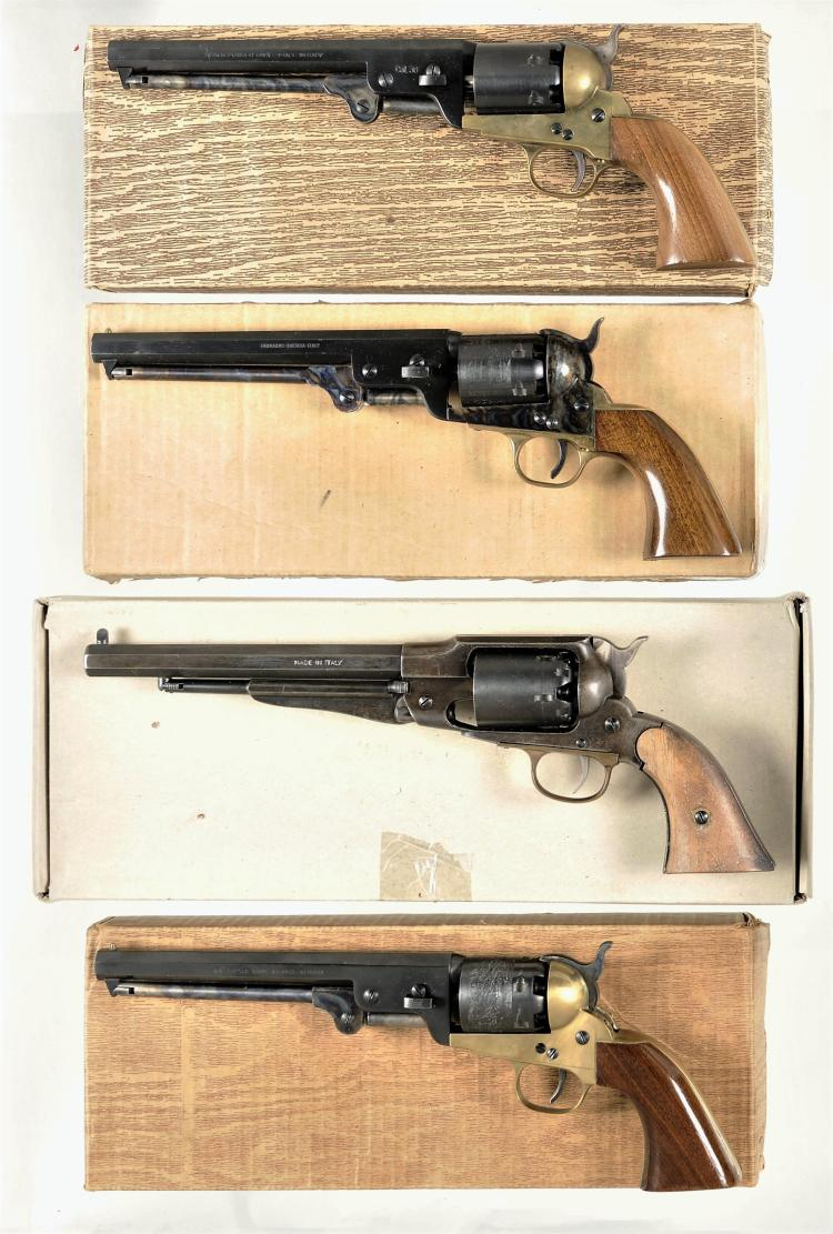 Four Boxed Italian Reproduction Percussion Revolvers -A) Richland Arms Model 1851 Navy Revolver