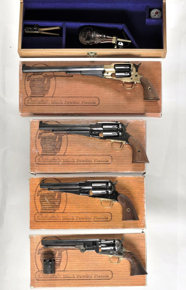 Four Italian Reproduction Percussion Revolvers -A) F LLI Pietta Model 1858 Army Revolver with Accessories