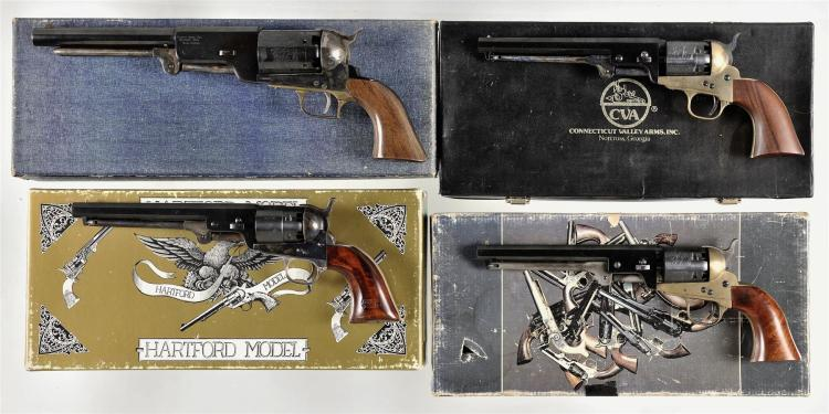Four Italian Reproduction Percussion Revolvers -A) Replica Arms Model 1847 Walker Revolver with Box
