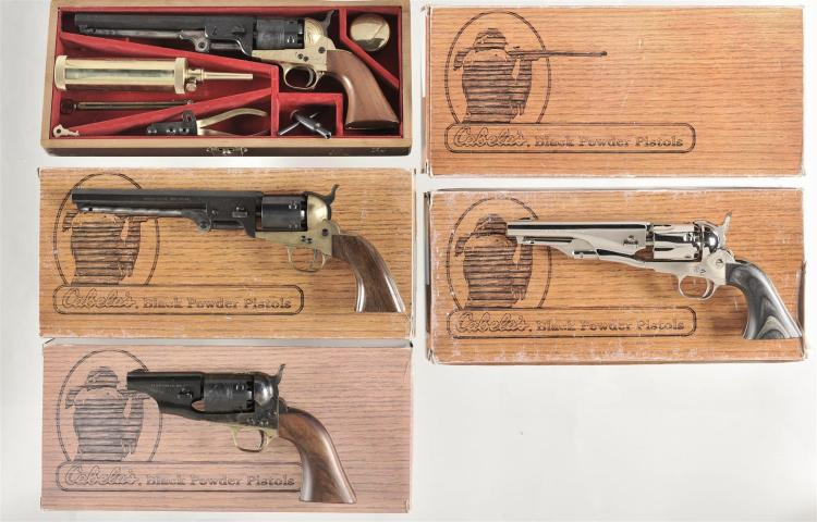 Four Italian Reproduction Revolvers -A) F LLI Pietta Model 1851 Rebel Percussion Revolver with Accessories