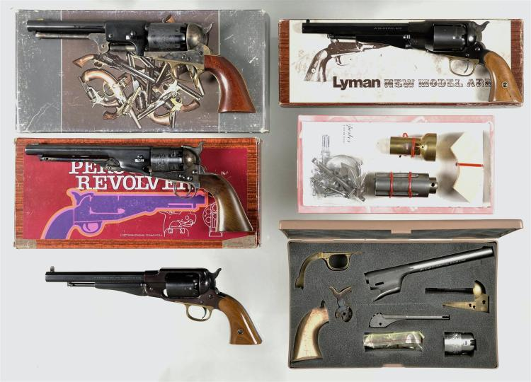 Six Boxed Reproduction Percussion Revolvers -A) Armi San Marco First Model Dragoon Revolver