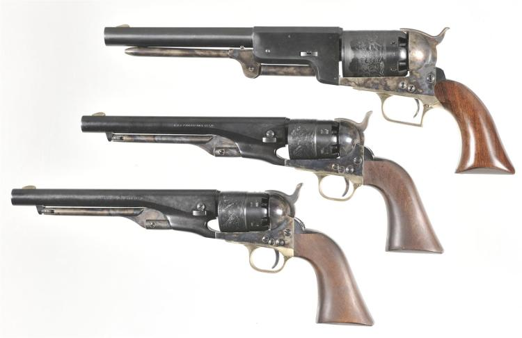Three Italian Reproduction Revolvers -A) Italian Walker Revolver