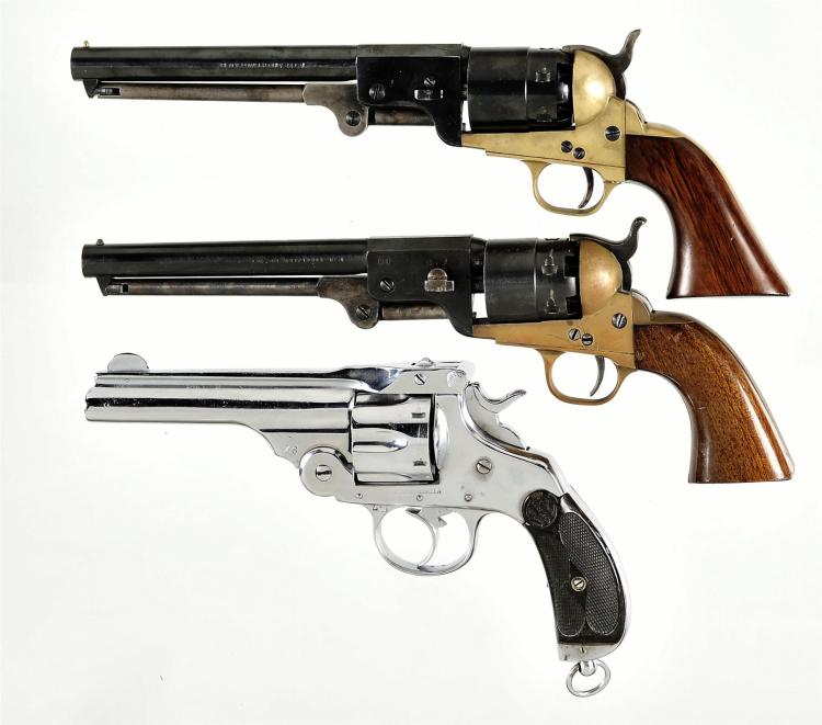 Three Revolvers -A) F.LLI Pietta Percussion Revolver
