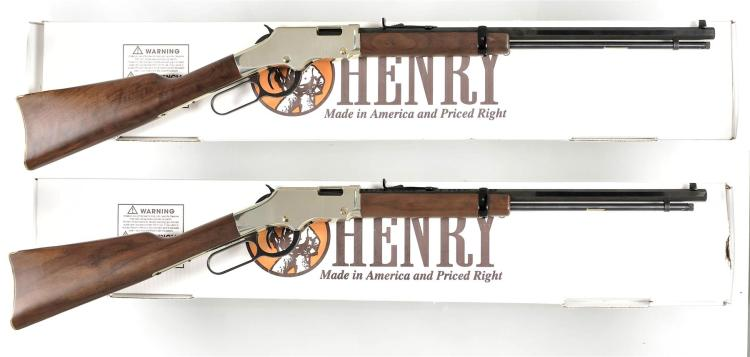 Two Boxed Henry Lever Action Long Guns -A) Henry Golden Boy Model H0004M Rifle