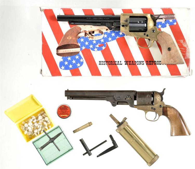 Two Italian Reproduction Percussion Revolvers -A) F.LLI Pietta Spiller & Burr Revolver with Box