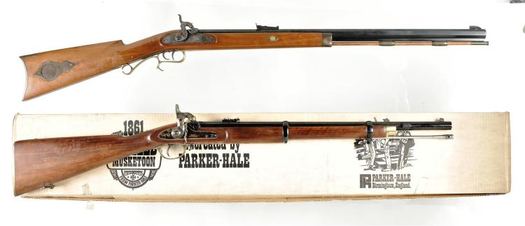 Two Long Guns -A) Thompson Center Arms Model Hawken Percussion Rifle