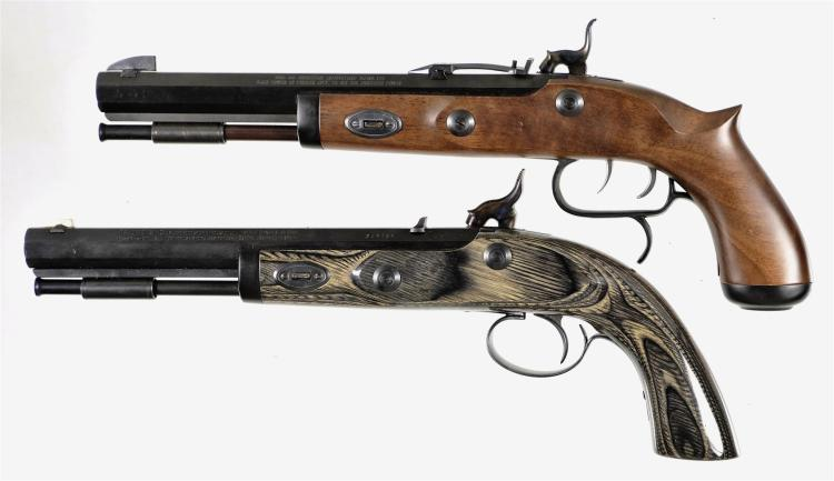 Two Modern Percussion Pistols -A) Traditions Trapper Model Pistol