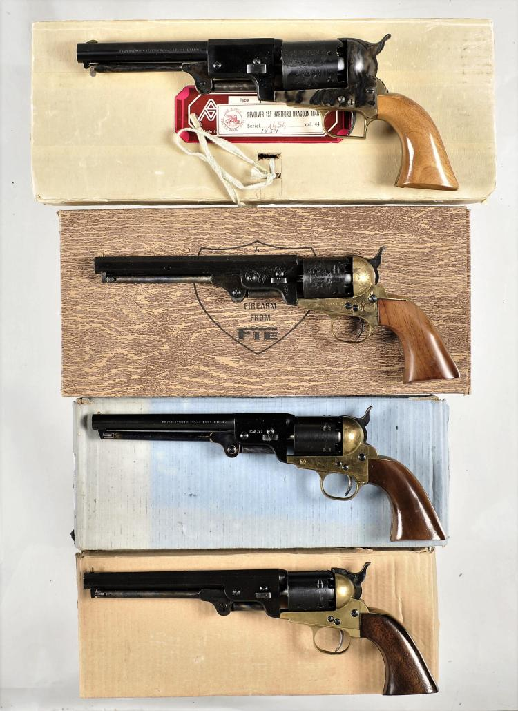 Four Italian Percussion Revolvers -A) Armi San Marco First Model Dragoon Revolver with Box