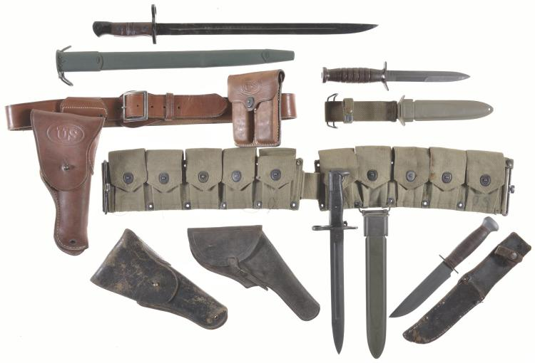 Grouping of Assorted Military Items