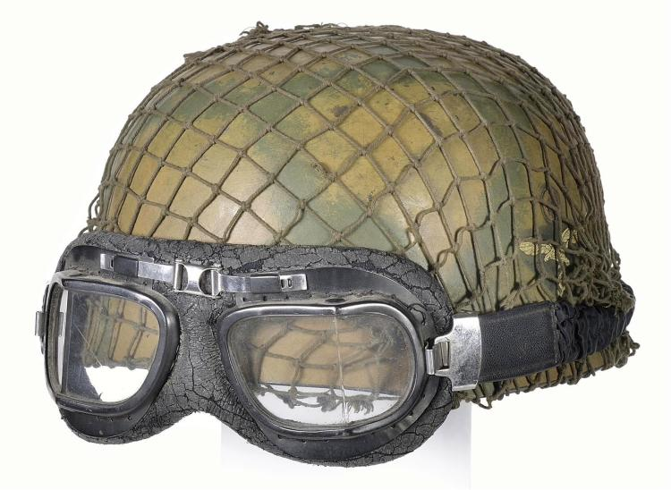Fallschirmjaeger Style Helmet with Goggles
