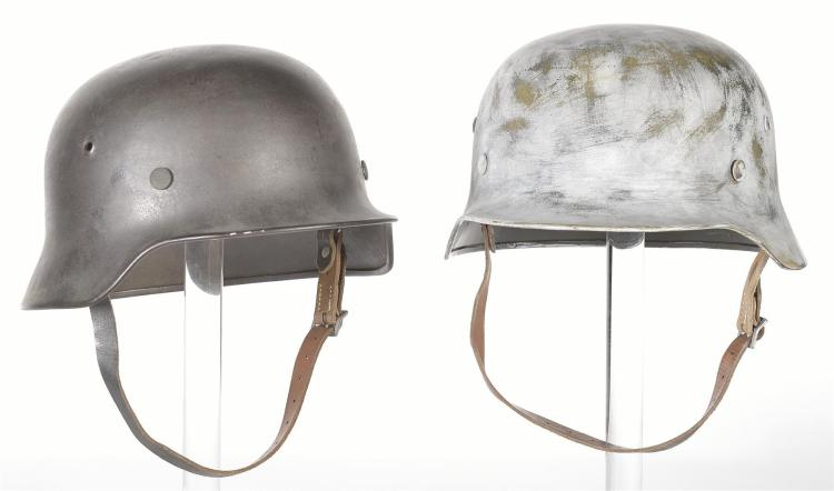 Two German Military Style Helmets