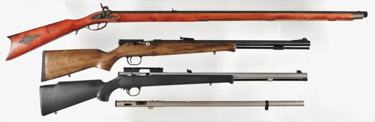 Three Percussion Rifles and a Barreled Action -A) Turner Kirkland Full Stock Rifle