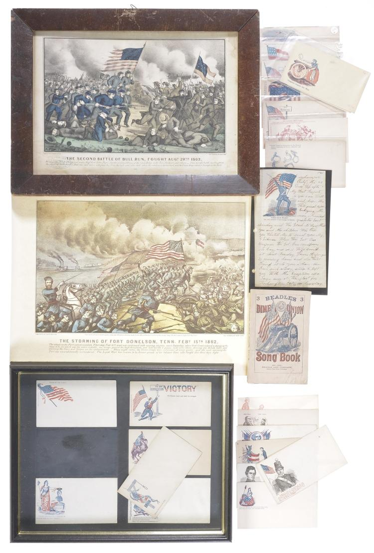 Collection of Civil War Prints and Envelopes
