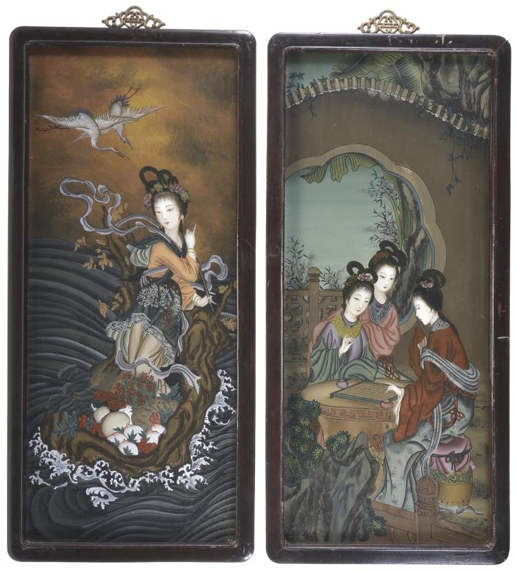 Two Framed Oriental Theme Prints