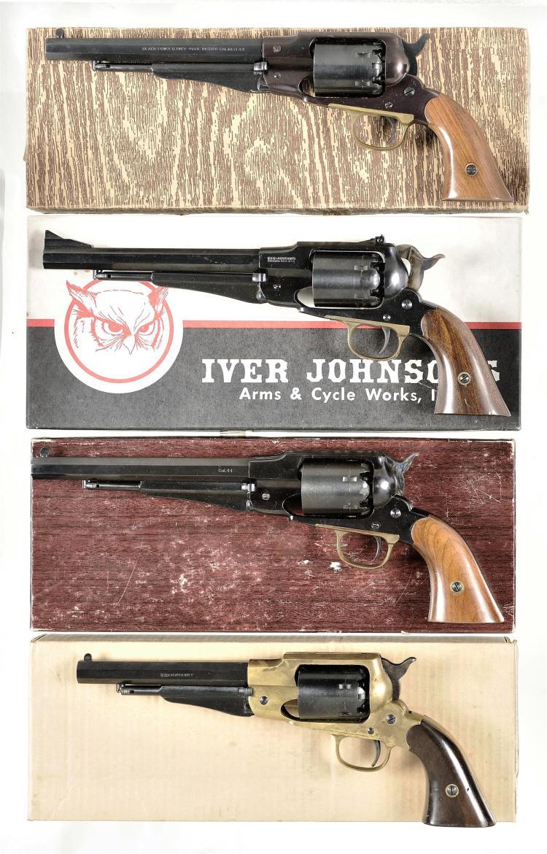 Four Boxed Italian Replica Percussion Revolvers -A) Italian Model 1858 New Army Replica Revolver