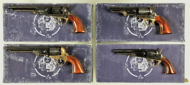 Four Boxed Italian Reproduction Percussion Revolvers -A) Armi San Marco 1861 Navy Revolver