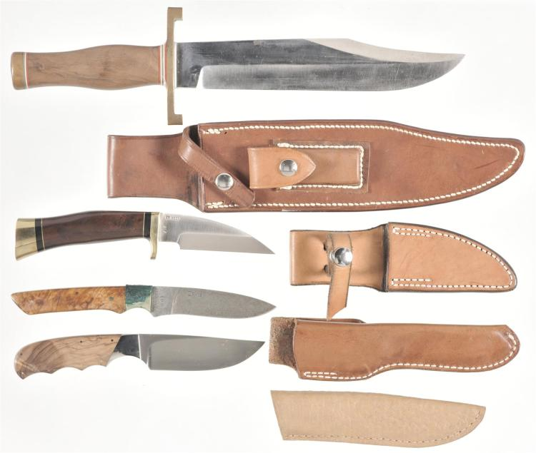 Four Knives with Sheaths