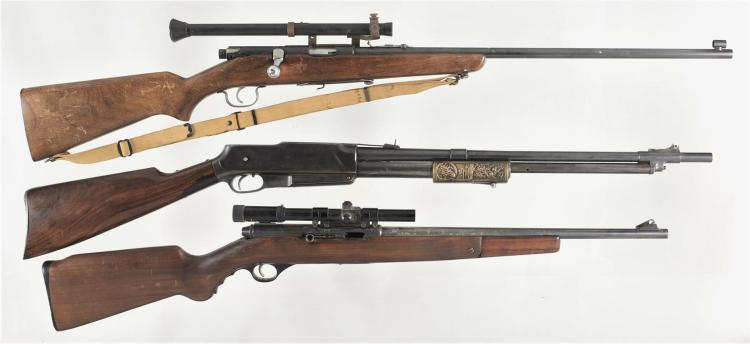 Three Rifles -A) Wards Westernfield Model 45 Bolt Action Rifle with Wards Model 20 Scope and Sling