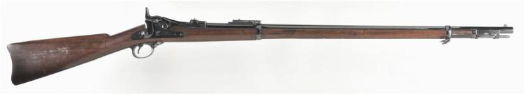 U.S. Springfield Armory Model 1888 Trapdoor Rifle with Ramrod Type Bayonet