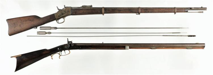 Two Long Guns -A) Remington Argentine Model 1879 Rolling Block Rifle