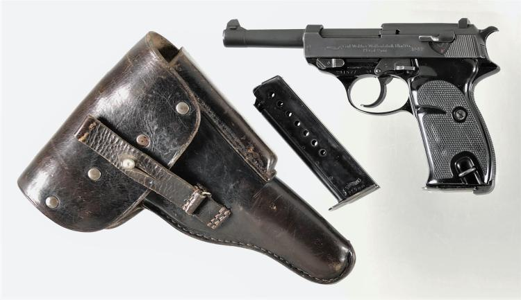 Walther Model P1 Semi-Automatic Pistol with Holster and Extra Magazine