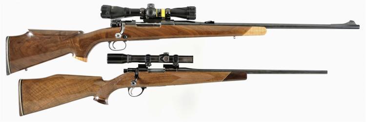 Two Bolt Action Rifles -A) Czech Mauser Rifle with Scope