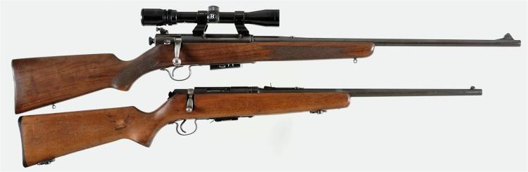 Two Bolt Action Rifles -A) Savage Model Super Sporter Rifle with Scope