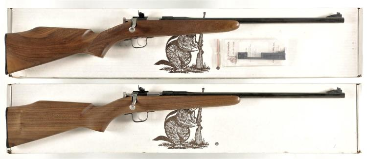 Two Bolt Action Rifles with Boxes -A) Oregon Arms Model Chipmunk Rifle