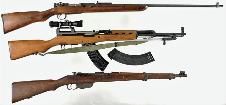 Three Rifles -A) Japanese Sporterized Bolt Action Rifle