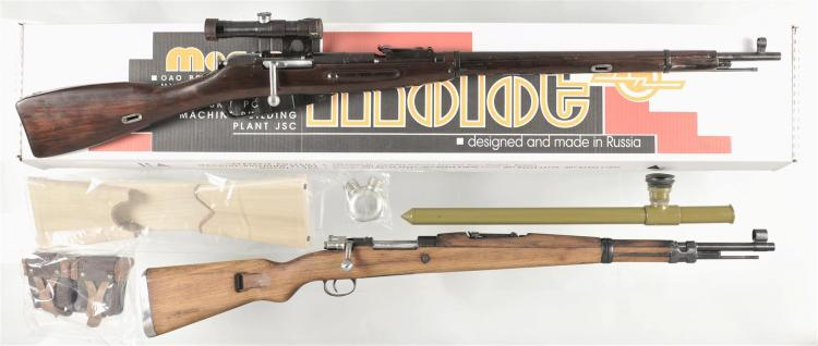 Two European Long Guns -A) Mosin Nagant 91/30 Bolt Action Rifle with Accessories