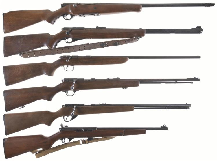 Six Long Guns -A) Mossberg Model 185D Bolt Action Shotgun