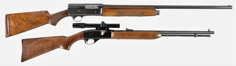 Two Remington Long Guns -A) Remington Model 11 Semi-Automatic Shotgun