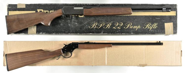 Two Rifles with Boxes -A) Browning Model BPR Slide Action Rifle