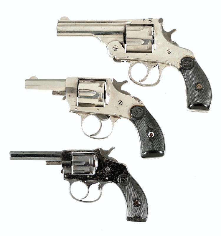 Three Double Action Revolvers -A) Harrington & Richardson Model 2 Double Action Revolver