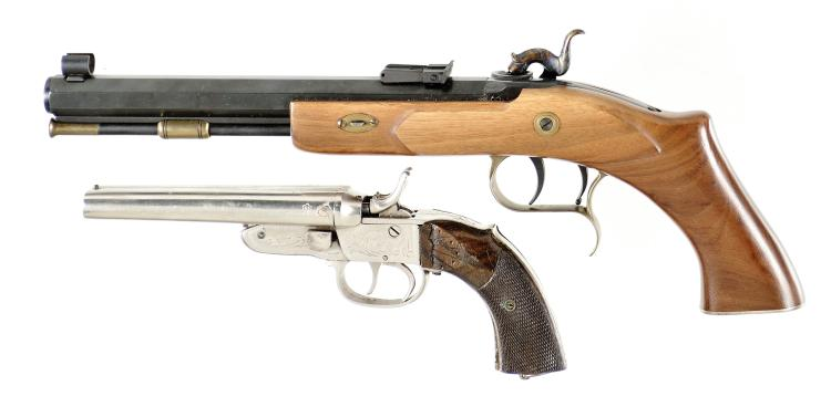 Two Pistols -A) Thompson Center Arms Percussion Pistol
