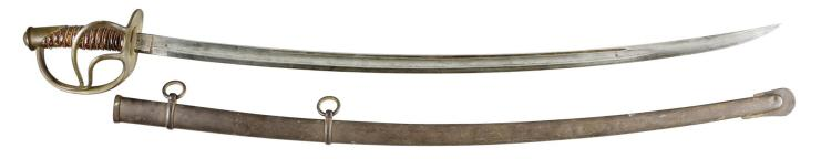 US Cavalry C Roby Marked Sword with Scabbard