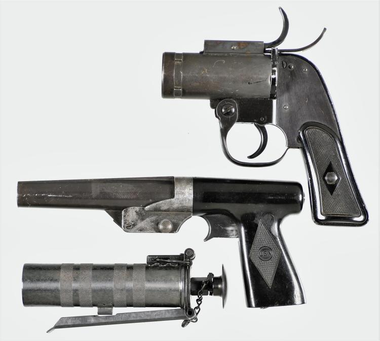 Three Flare Projectors -A) Eureka Model M8 Flare Pistol