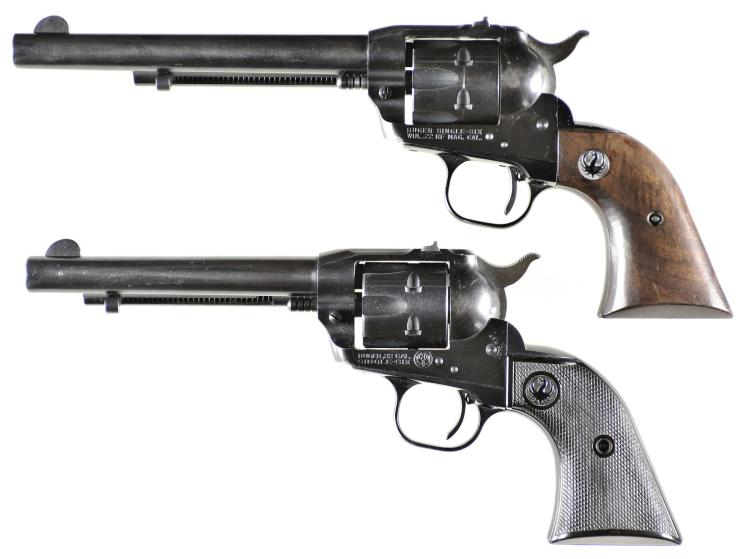 Two Ruger Single Action Revolvers -A) Ruger Single Six Revolver
