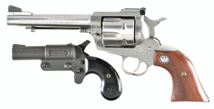 Two Modern Handguns -A) Ruger New Model Super Blackhawk Single Action Revolver