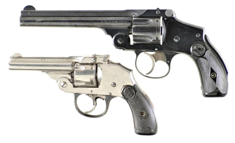 Two Top Break Double Action Revolvers -A) Smith & Wesson 38 Safety Hammerless Revolver