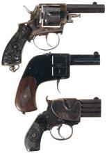 Two European Pistols and One European Revolver