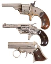 Three Antique Pocket Handguns