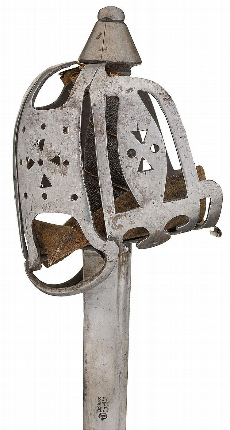 Revolutionary War Era Scottish Basket Hilt Infantry Claymore