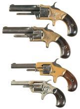 Four Antique Rimfire Revolvers
