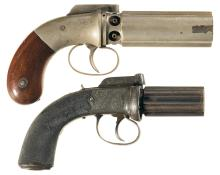 Two Bar Hammer Double Action Pepperbox Revolvers